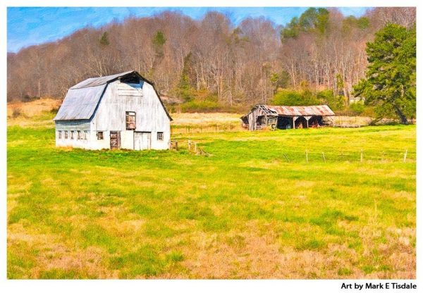 Old Dairy Barn in Dekalb County Georgia Print by Mark Tisdale