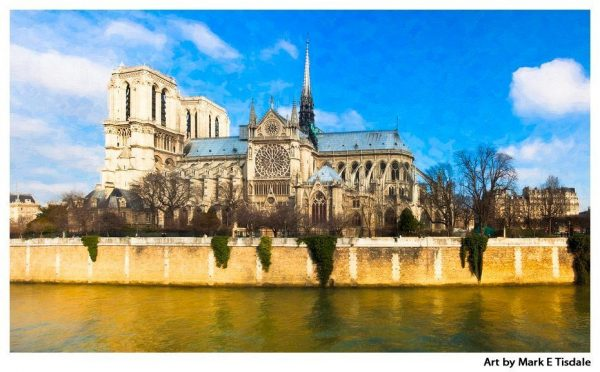 Notre Dame Cathedral Panorama Print by Mark Tisdale