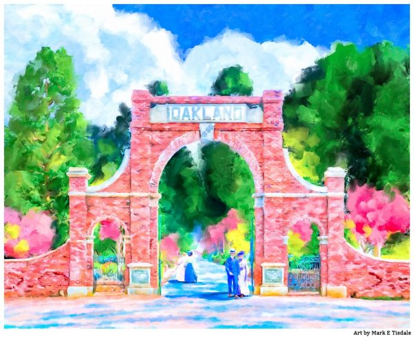Historic Oakland Cemetery Gates - Atlanta Landmark print by Georgia artist Mark Tisdale