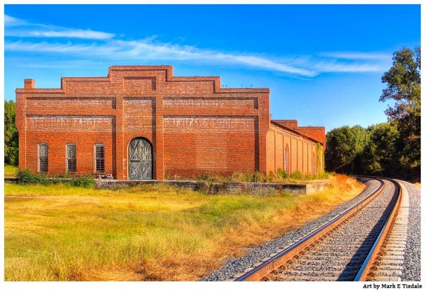 Old Cotton Warehouse in rural Georgia - Byromville - Print by Mark Tisdale