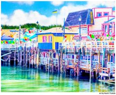 Old Fisherman's Wharf - Monterey California Art Print by Mark Tisdale
