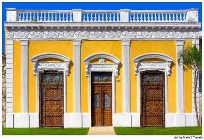 Ornate Wooden Doors in Mexico - Print by Mark Tisdale