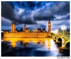 Big Ben and the Palace of Westminster At Night - Print by Mark Tisdale