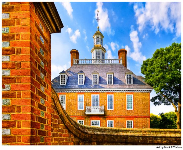 Palace Walls in Colonial Williamsburg Virginia - Georgian Architecture Print by Mark Tisdale