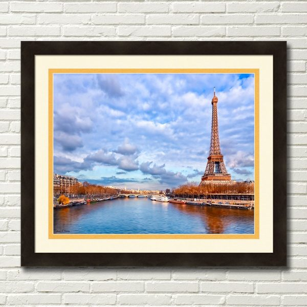 Majestic Eiffel Tower - Paris Landmark Framed Wall Art By Mark Tisdale