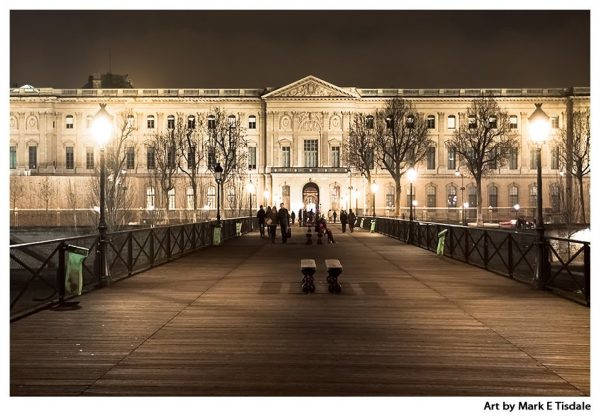 Parisian Nights - The Louvre after dark by street lights - Paris Print by Mark Tisdale