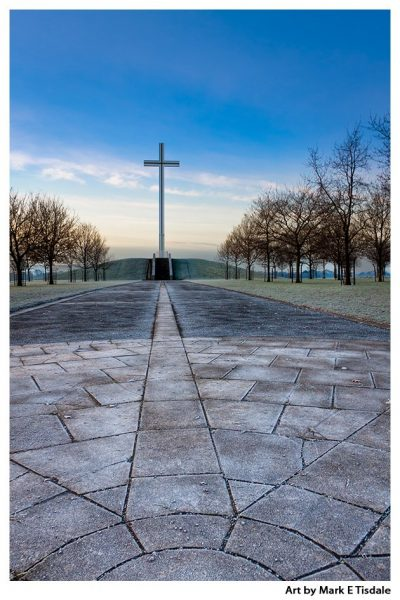 Path leading to the Papal Cross in Dublin Ireland - Print by Mark Tisdale