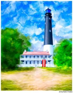 Pensacola Lighthouse Art - Florida Coast Print by Mark Tisdale