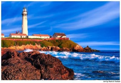 Pigeon Point Lighthouse Print by Mark Tisdale