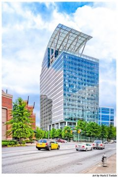 Pinnacle Building - Buckhead Atlanta Postmodern Architecture Print by Mark Tisdale