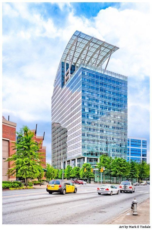 Pinnacle Building - Buckhead Atlanta Postmodern Architecture Print by Mark Tisdale