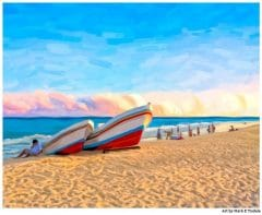 Playa del Carmen Mexico Beach Sunset Print by artist Mark Tisdale
