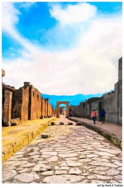 Pompeii Streets - Ancient Roman City Ruins - Print by Mark Tisdale