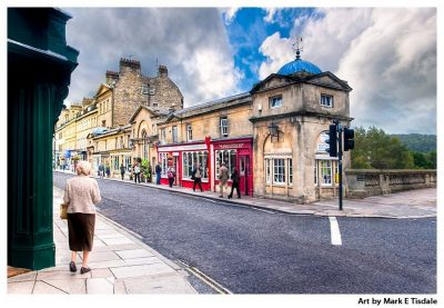 Pulteney Bridge in Bath England - Print by Mark Tisdale