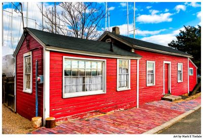 Red Fisherman's House In Salem Massachusetts - New England Print by Mark Tisdale