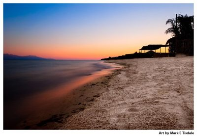 Red Sea Sunset Print by Mark Tisdale
