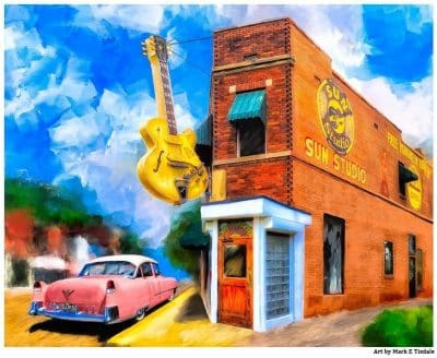 Rock Music Artwork - Sun Studio Print by Mark Tisdale