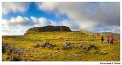 Ruins of Dun Aengus on the Aran Islands - Ireland Print by Mark Tisdale