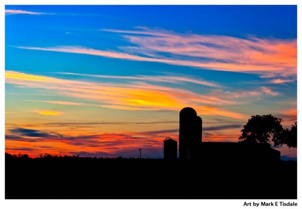 Colorful Rural Sunset - Georgia Farm Landscape Print by Mark Tisdale