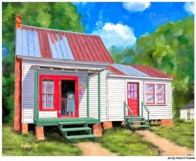 Rustic Farmhouse Art - Grandma's Cottage Print by Mark Tisdale