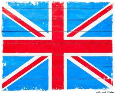 Rustic Union Jack Flag Art by artist Mark Tisdale