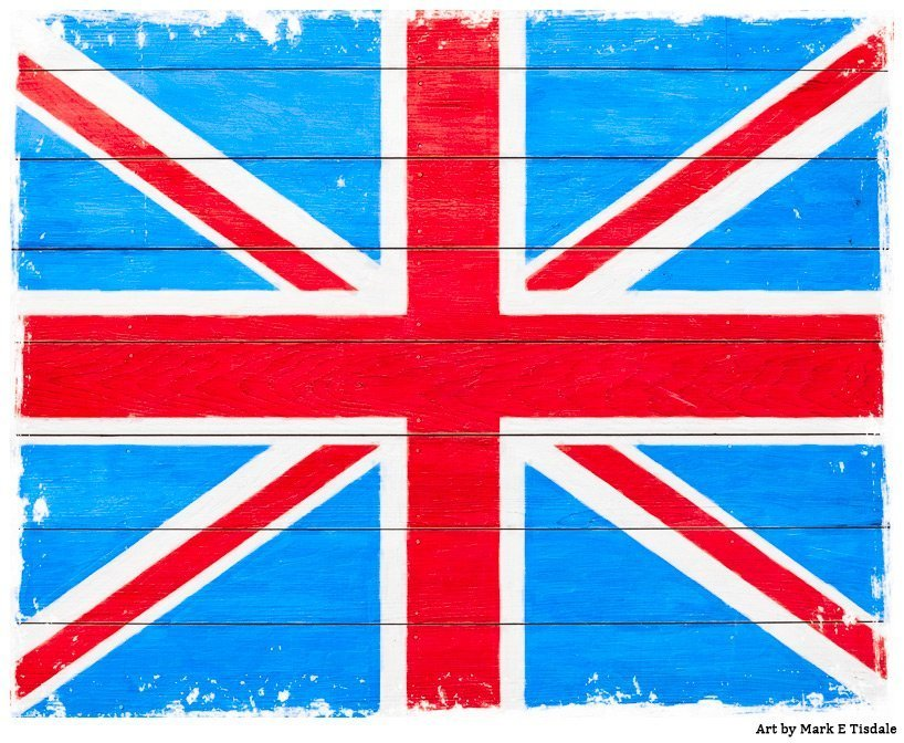 Rustic Union Jack British Art Print And Decor