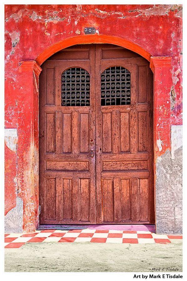 Rustic Wooden Door - Granada Nicaragua Architecture Print by Mark Tisdale