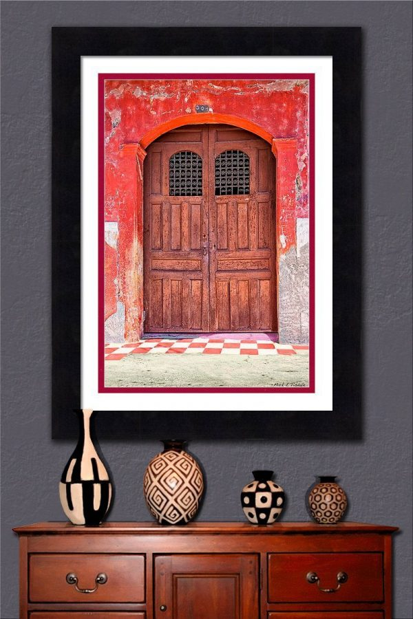 Rustic Wood Door Framed Wall Art