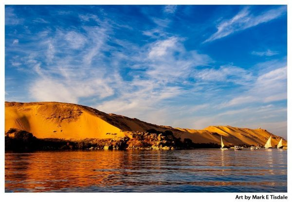 Sahara Sand Dunes - Egypt Nile Landscape Print by Mark Tisdale