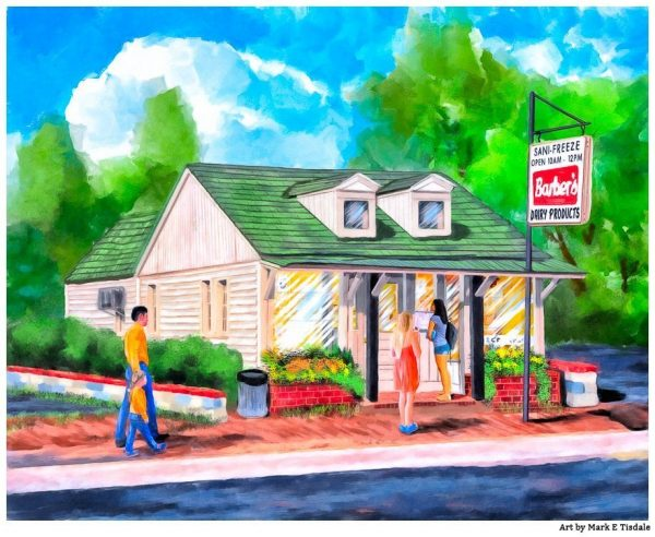 The Sani-Freeze - Auburn Alabama Landmark Art Print by Mark Tisdale