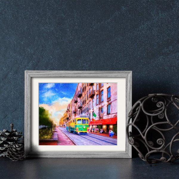 Savannah River Street Framed Print by Mark Tisdale