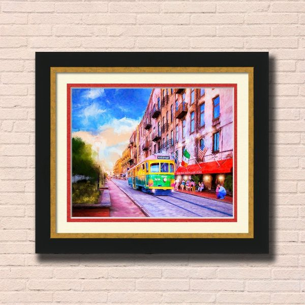 Savannah River Street Framed Wall Art by Mark Tisdale