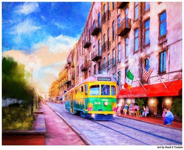 Savannah River Street Print by Mark Tisdale