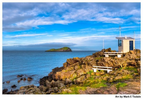Scottish Seaside View - North Berwick Art Print by artist Mark Tisdale