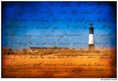 Tybee Light Print - Nostalgic Georgia Coast Art by Mark Tisdale