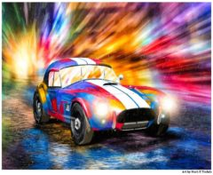 Shelby Cobra Race Car Art Print by artist Mark Tisdale