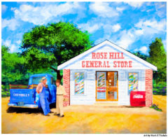 Simpler Times Country Store Print by Mark Tisdale