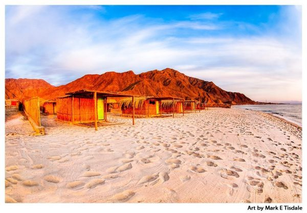 Sinai Sunrise - Egypt Red Sea Beach Print by Mark Tisdale