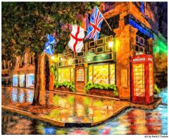 Six Pence Pub - Savannah Art Print by Georgia artist Mark Tisdale