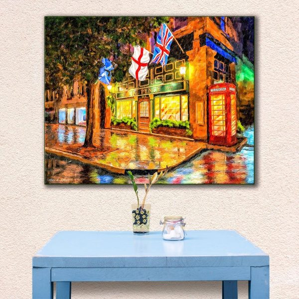Six Pence Pub - Savannah Canvas Art Print