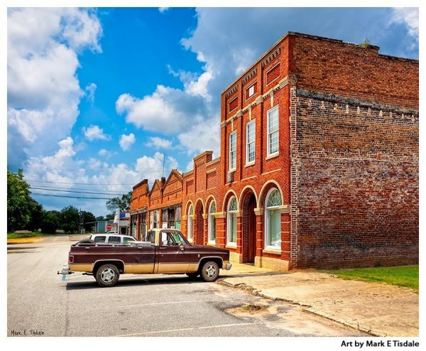 Streets of a Small Southern Town - Leary Georgia Print by Mark Tisdale