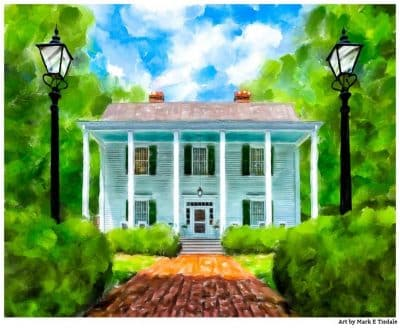 Smith Plantation - Roswell Georgia - Antebellum Architecture Print by Mark Tisdale