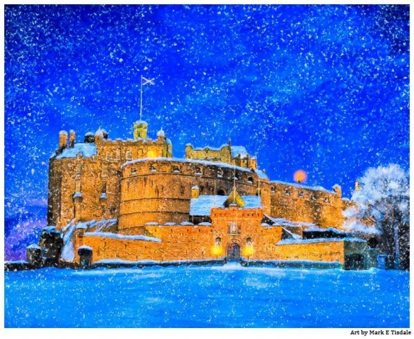 Edinburgh Castle In The Snow - Edinburgh Scotland Print by Mark Tisdale