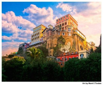 Sorrento Italy Cliffs with Hotels Above - Italy Print by Mark Tisdale