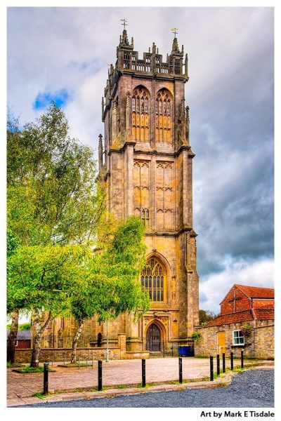 St Johns Church - Glastonbury English Gothic Architecture Print by Mark Tisdale