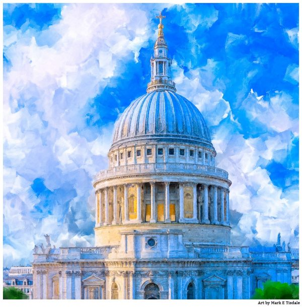 St Paul's Cathedral Dome - London Architecture Art Print by Mark Tisdale