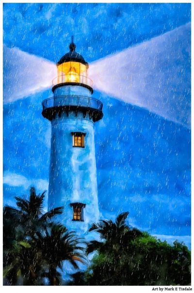 St. Simons Island Artwork - Lighthouse Print by Georgia artist Mark Tisdale