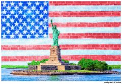Statue of Liberty Patriotic Art Print by Mark Tisdale