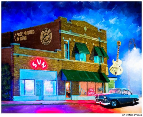 Sun Studio Artwork - Night in Memphis - Print by Mark Tisdale