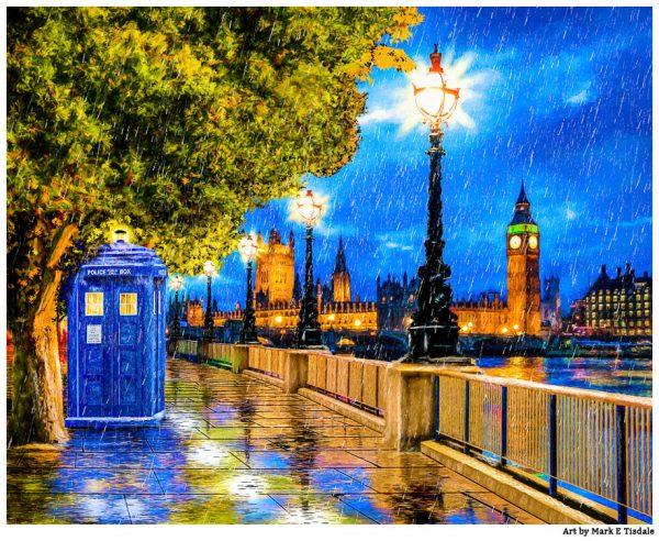 Tardis Print - Doctor Who Art by Artist Mark Tisdale